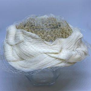 Vintage White & Cream Hat